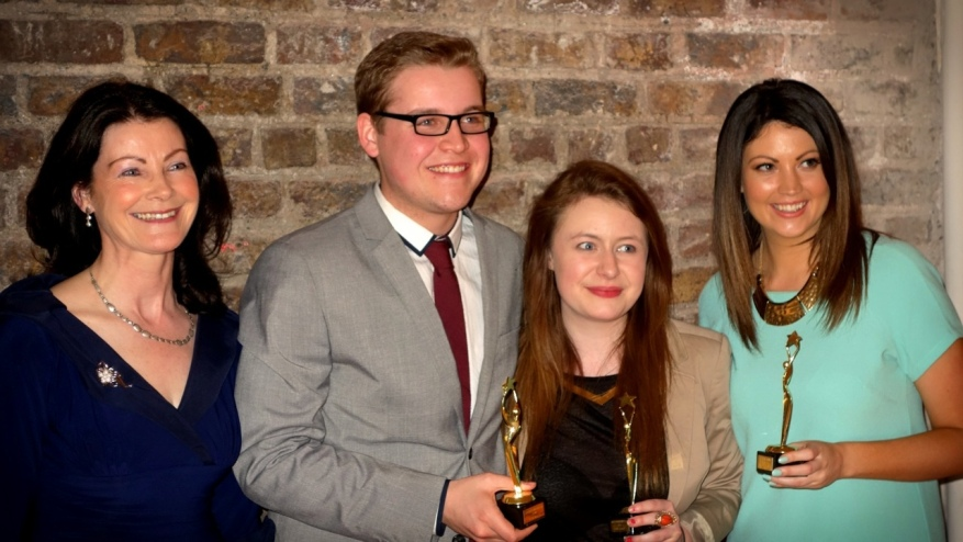 Fionnuala Sheehan with contestants and mentor.